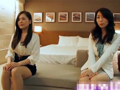 【三十路熟女動画】友達同士でAV出演する綺麗過ぎる美人妻が悶絶しまくるハメ撮りセックス!