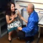 【五十路熟女動画】万引きした50代の巨乳奥さんが店員に脅され好き放題ヤラれて中出しセックス!