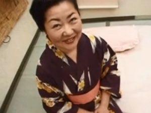 【高齢熟女動画】還暦過ぎても性欲旺盛な六十路おばあちゃんが着物姿で若い男と濃厚SEXしてイキ狂う!