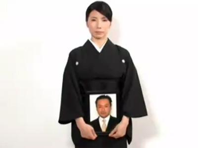 【五十路熟女動画】スレンダーで綺麗な巨乳未亡人が夫の仏壇前で住職とパコパコ中出しSEX!