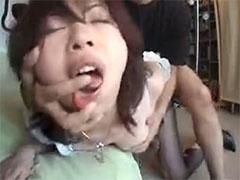 【SEX熟女動画】バックから突かれ絶叫してる人妻のアヘ顔www