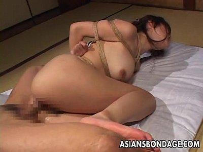【SEX熟女動画】ガチガチに緊縛した巨乳&巨尻のムチムチ美熟女。前から後ろから肉棒で突き上げるSMハード拷問セックス。